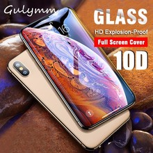 10D Full Protective Glass For iPhone 6s 8 7 Tempered Glass Cover For iPhone 8 7 6 Plus X XR XS Max Screen Protector Glass Film цены
