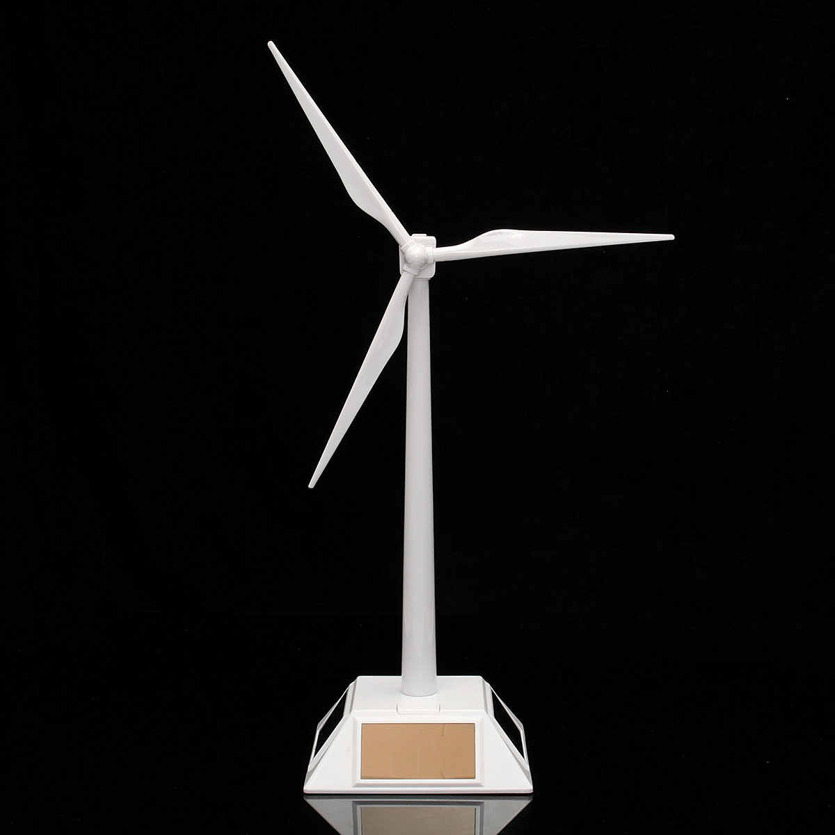 2 in 1 White Solar Wind Generator Model and Exhibition Stand Windmill Educational Assembly Kit Desktop Decoration Plastics
