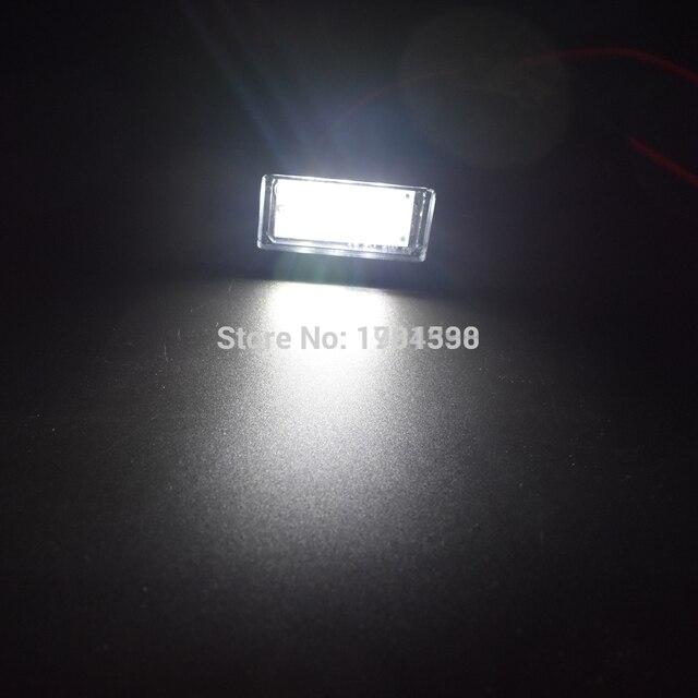 2 قطعة 3SMD 5050 ضوء لوحة ترخيص مُضاء في Canbus لا خطأ ل A3 S3 A4 S4 A6 C6 A8 S8 Q7 RS4 أفانت RS6 سيارة الخلفية عدد لوحة مصابيح