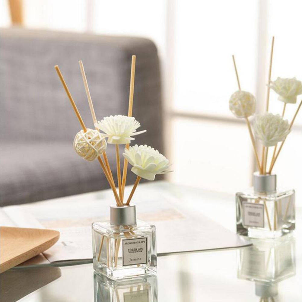 Aromatherapy Perfume Diffuser Set For Home Room Office Bathroom Living Room With Rattan Ball And Flower Decoration