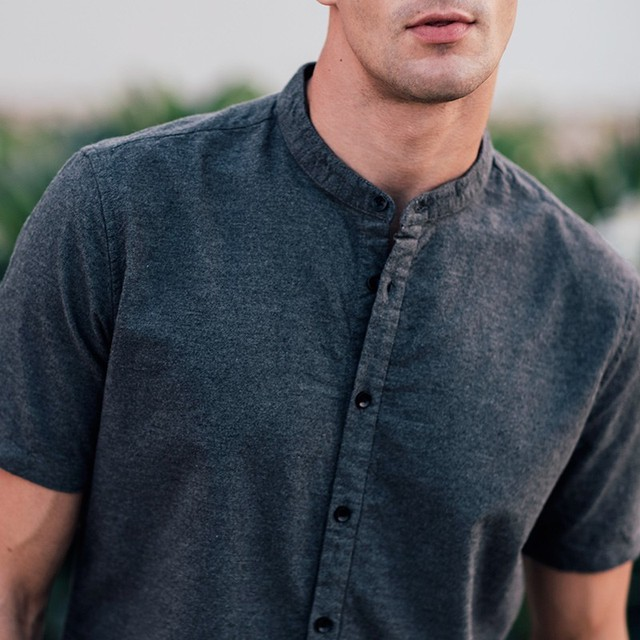 KUEGOU 2019 100% Cotton Plain Shirt