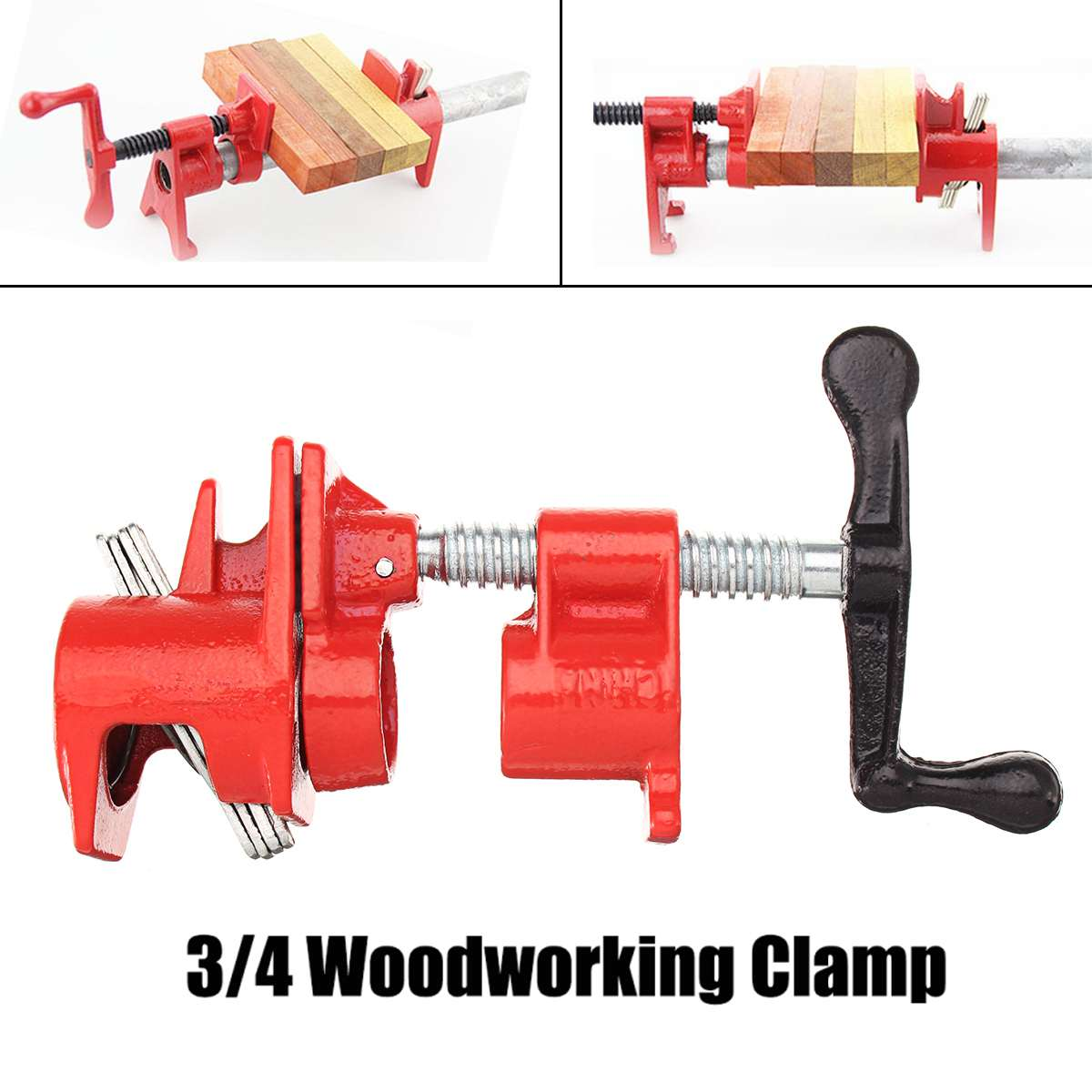 3/4 Heavy   Pipe Clamp Set Quick Release Wood Gluing Woodworking Cast Iron3/4 Heavy   Pipe Clamp Set Quick Release Wood Gluing Woodworking Cast Iron