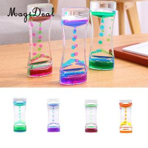 Acrylic Mix Color Liquid Timer Children Sensory Educational Time out Tool Home Room Office Desk Decor Novelty Friends Gift(China)
