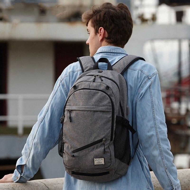 Grande capacité pochette d'ordinateur épaules sac à dos USB Charge toile extérieur Basketball Sport étanche Notebook sac de voyage sac à dos.