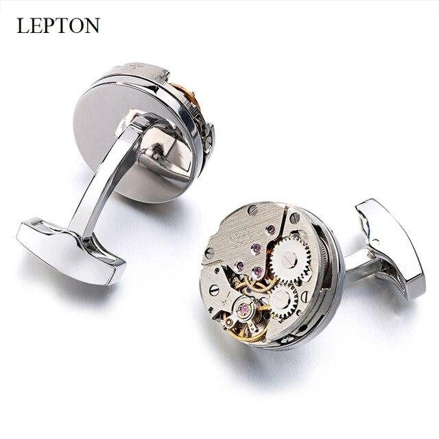 Запонки lepton мужские запонки механизм в стиле стимпанк механической