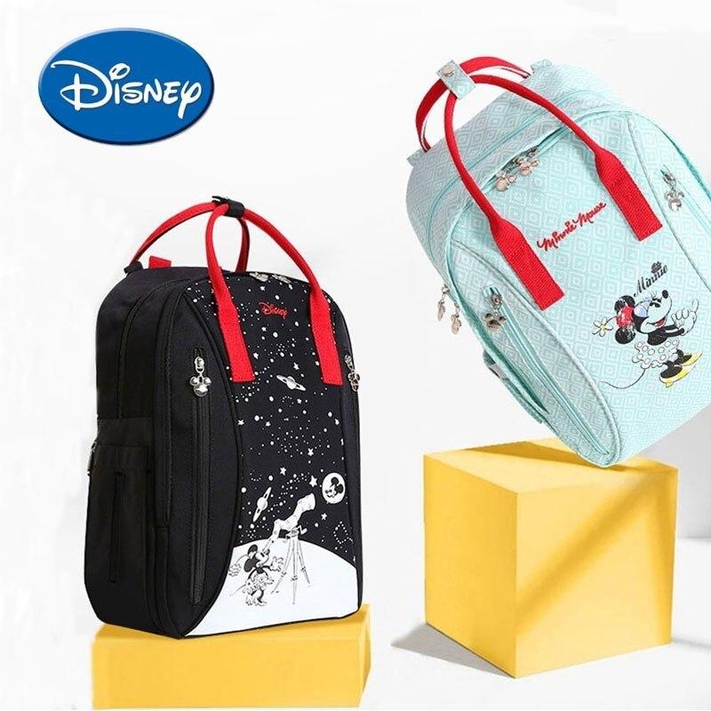 Sac à couches bébé Disney grande capacité sac de soin de bébé de maternité sac à dos à couches imperméable momie voyage sac à dos d'allaitement