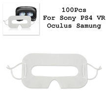 c3abe45ee 100 pcs Descartáveis de Higiene pad Olho Máscara Facial rosto proteção para  HTC Viva Realidade Virtual VR VR para Sony PS4 óculo.