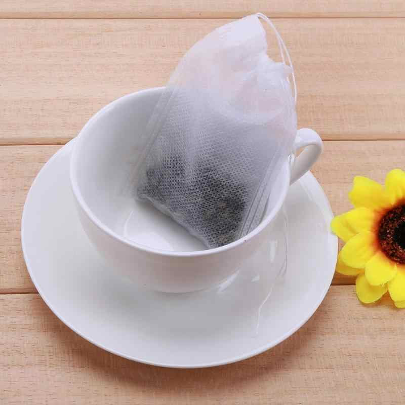 Tea Bags 6 X 8 cm/7 X 9cm 100pcs Teabags Drawstring Home Sealing Medicine Bag Empty Tea Spice Seal Filter Bag for Herb Loose Tea