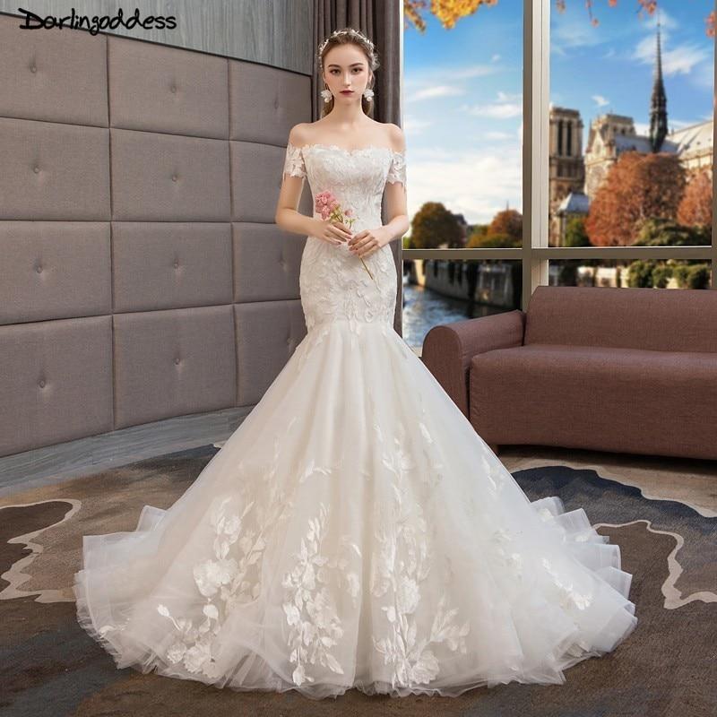 Vintage Ivory Lace Mermaid Wedding Dresses 2019 Short