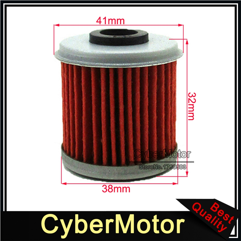Fuel Oil Filter HF116 KN116 For CRF150F CRF250X CRF150R CRF250R CRF450R TRX450R TRX450ER <font><b>CRF150RB</b></font> Dirt Bike Motorcycle ATV image