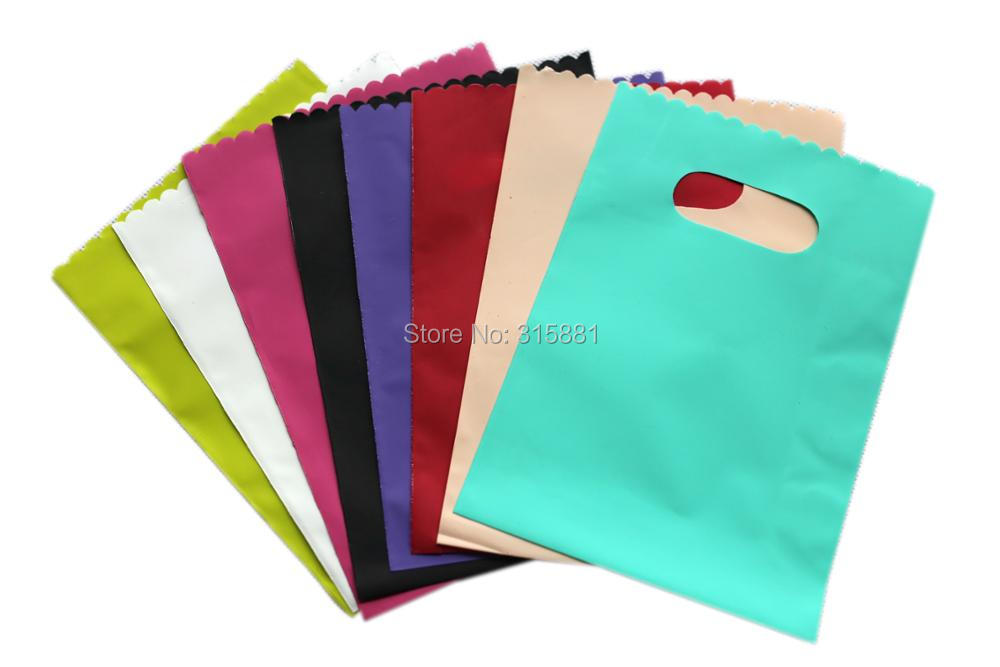Plastic Gift Bags,jewelry Packaging Pouches, Colorful Plastic shopping bags,Gift Packaging Pouches  20pcs/lot-in Gift Bags & Wrapping Supplies from Home & Garden