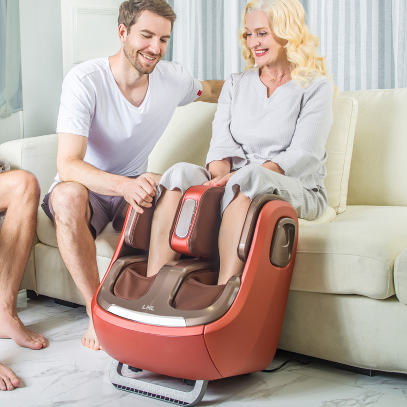 Image 3 - Electric Leg And Foot And knee Massager Infrared Heating Legs Calf Massage Machine Air Pressure Air Compression Massagem-in Massage & Relaxation from Beauty & Health