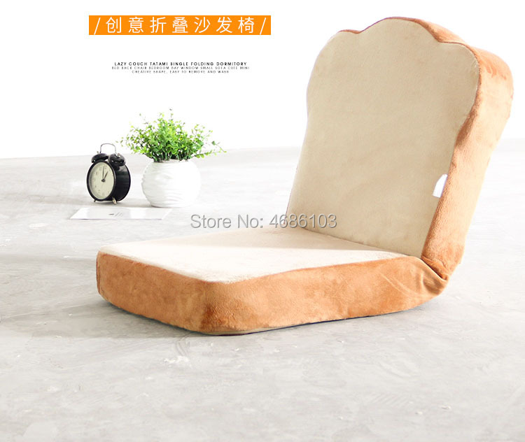 2019 new Cute Toast Style Floor Legless Sofa Folding Lazy Sofa Single Bedroom Balcony Floating Window Backrest Chair2019 new Cute Toast Style Floor Legless Sofa Folding Lazy Sofa Single Bedroom Balcony Floating Window Backrest Chair