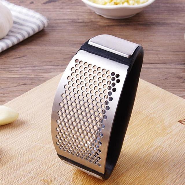 Stainless Steel Garlic Presses Mincer Kitchen Gadget