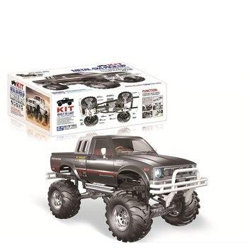 New HG P407A 1/10 2.4G 4WD Rc Car Kit for TOYATO Metal 4X4 Pickup Truck No Servo Battery ESC Transmitter DIY RC Kids Toys 1