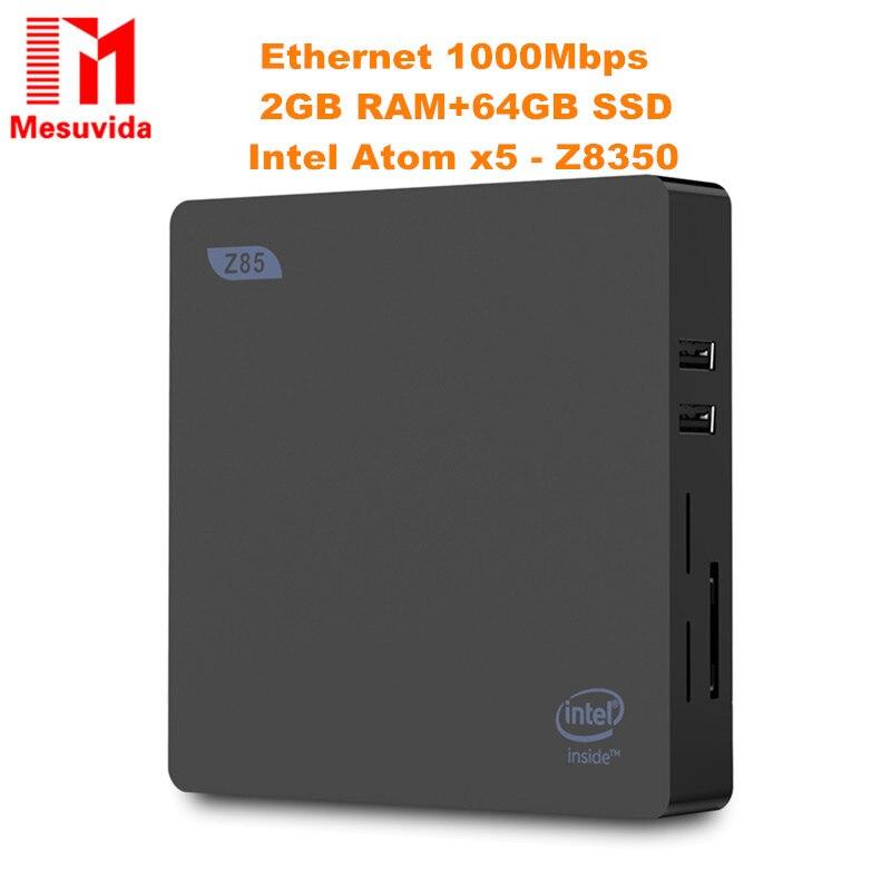 Z85 Mini PC 2GB 64GB TV BOX Dual-Screen Display 5.8GHz WiFi Ethernet 1000Mbp Bluetooth 4.0 Set-Top Box All In One Pc Pk Z83 Mini