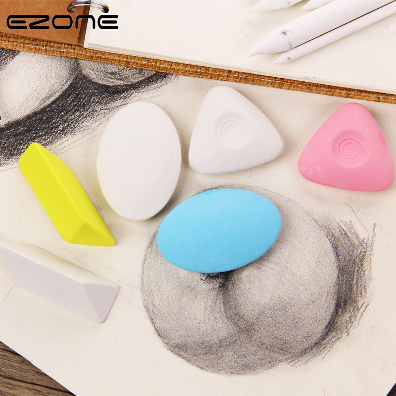 EZONE Sketch Special Eraser Different Shape Color No PVC Eraser Art Students Professional Drawing Art Eraser Stationery Supply