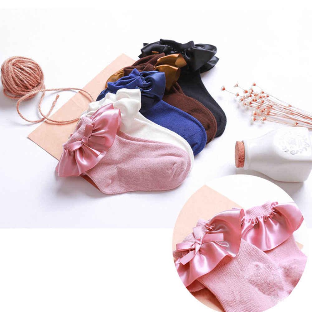 Kid Prinses Meisjes Sokken kinderen Over Ankle Korte Sokken met Kant Baby Meisjes Beenwarmers Katoen Lente Stijl 2 -8 jaar