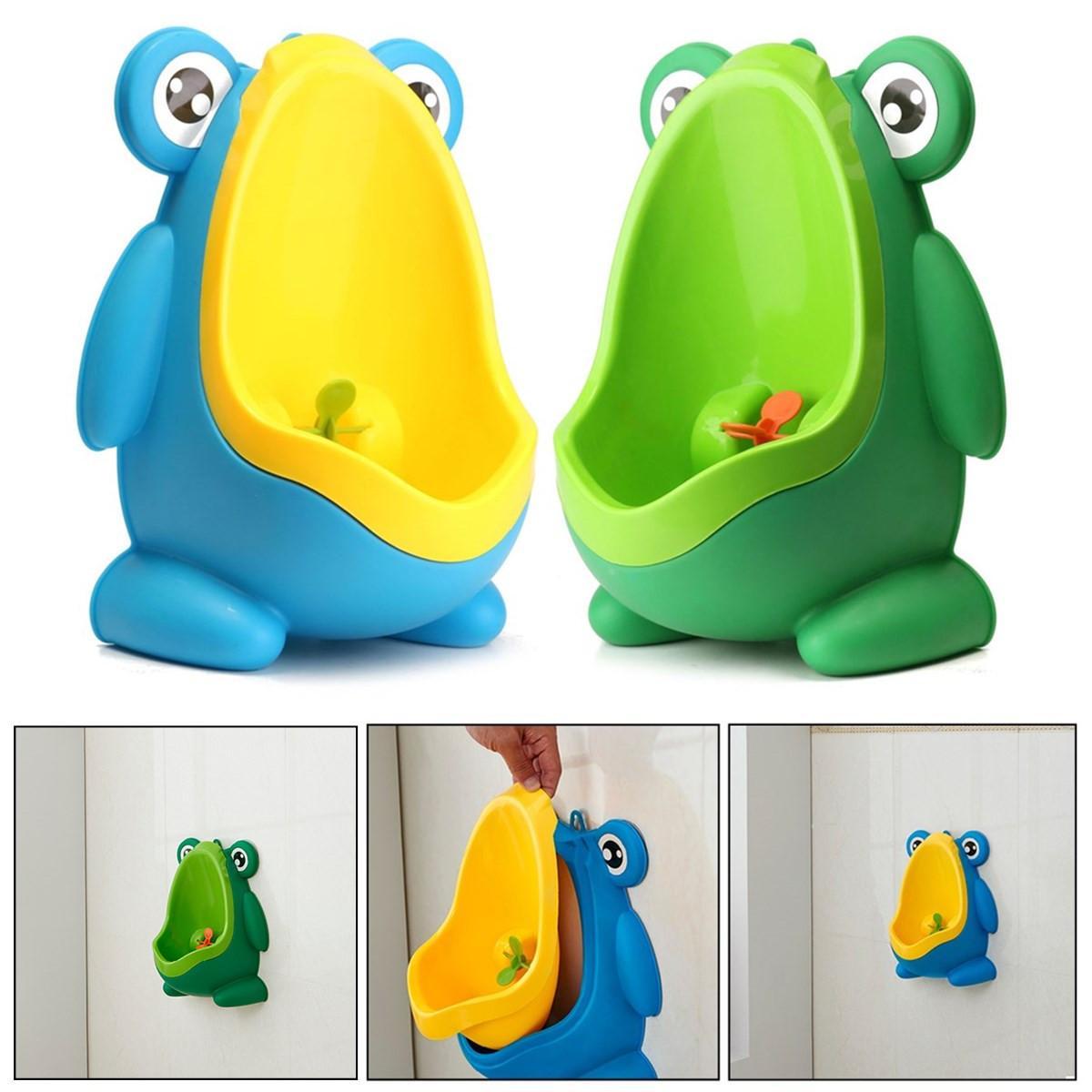 For 0-6 Yeas Old Baby 15x20.5x29cm Potty Toilet Fiog Shaped Children Potty Toilet Training Urinal Kids Boys Pee Trainer Bathroom