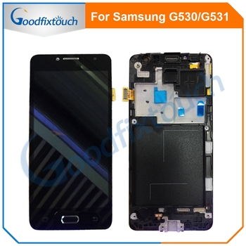 цена на For Samsung Galaxy Grand Prime G531 G531F SM-G531F G531H LCD Display Touch Screen Digitizer Assembly With Frame G530 G530H G530F