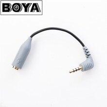 BOYA BY-CIP2 3,5 мм до TRRS ТРС микрофонный кабель адаптер для iPad iPod Touch iPhone BY-WM8 BY-WM6 BY-WM5 аксессуары для микрофона