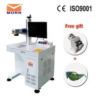 DIY logo metal marking machine fiber laser engraver machine with original CAS Raycus laser source optional