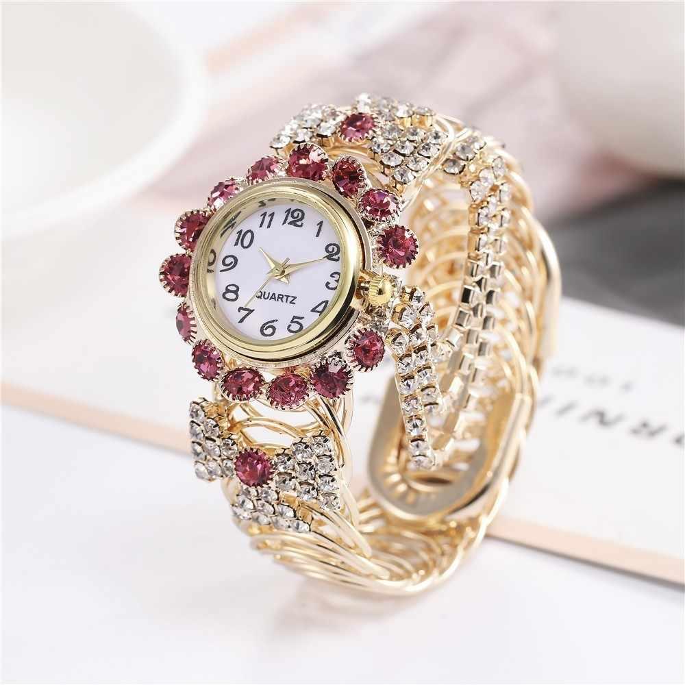 2019 Топ бренд класса люкс горный хрусталь браслет часы женские наручные часы Relogio Feminino Reloj Mujer Montre Femme часы