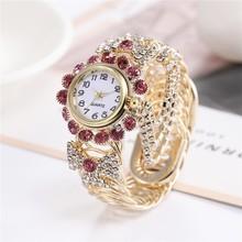 Top Brand Luxury Rhinestone Bracelet Watch Women Watches Ladies Wristwatch