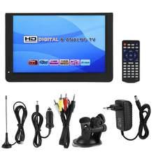 LEADSTAR 12 pulgadas 1080P Mini 16:9 LED de DT/T2 analógico Digital portátil TV televisión jugador para casa para enchufe de la UE