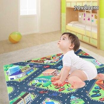 0561fdbcc Los niños de los niños alfombras de juego bebé gateando Mat en desarrollo  rompecabezas juego de