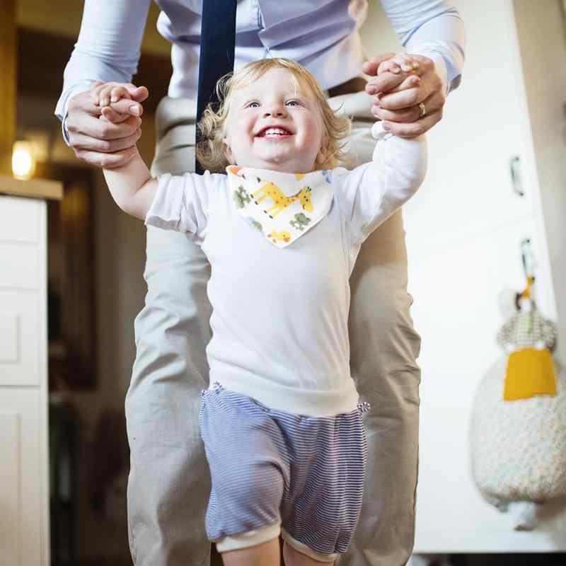 เด็กทารก Bibs เด็กทารกที่สามารถนำกลับมาใช้ใหม่ปรับได้ Burp ผ้าฝ้ายล้างทำความสะอาดได้สามเหลี่ยม Bibs Burp การ์ตูนพิมพ์ Tod