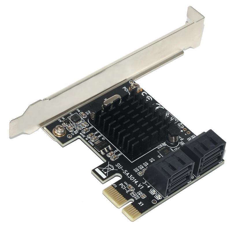 Marvell 88se9215 pcie para sata cartão pci-e adaptador pci express para sata3.0 placa de expansão 4 porta sata iii 6g para ssd hdd ipfs mineração