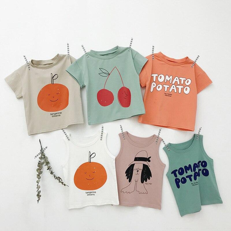 Child T-Shirt Short-Sleeve Cotton New Top Round-Neck
