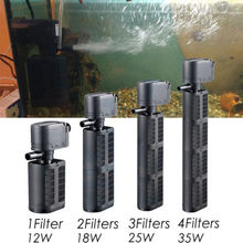 3 in 1 Filter Submersible Pump Aquarium Fish Tank Purifier Water EU Plug Multi-function