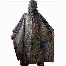 c251202b027 Primavera otoño camuflaje al aire libre caza Camping impermeable hombres  tiro Poncho de pesca toldo cielo cuenta almohadilla de .