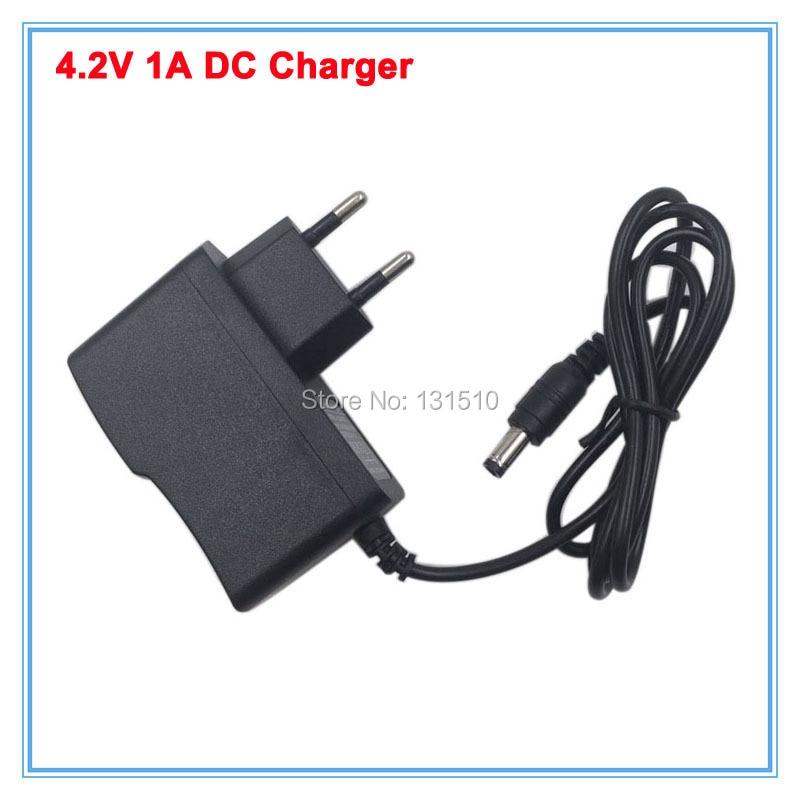 AC 100 240V DC Smart Charger 4 2V 1A for 3 6V 3 7V 1S Li