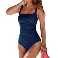 Sexy grande taille maillots de bain femmes 2019 une pièce maillot de bain noir rétro vêtements de natation pour maillots de bain monokini maillot de bain femme