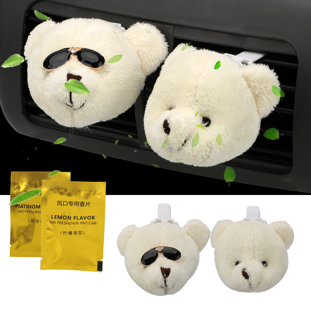Interior Accessories Car Perfume Vent Clip Fragrance Ornament Cute Doll Rabbit Duck Bear Air Freshener Home Automobiles Interior Aroma Flavor Gift Automobiles & Motorcycles