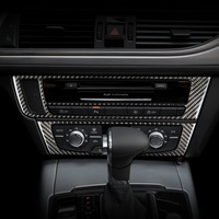 Car Interior Air conditioning CD panel 3D Sticker for Audi a6 c4 c5 c6 c7 4f quattro A7 Accessories Car Styling