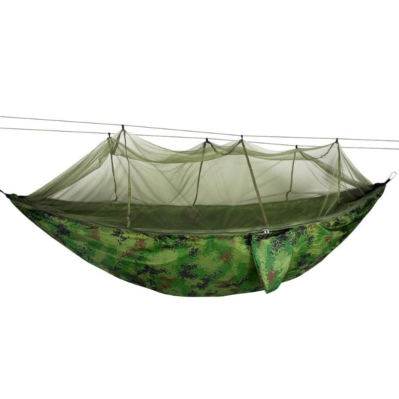 Automatic unfolding hammock ultralight parachute hammock hunting mosquito net double lifting outdoor furniture hammockAutomatic unfolding hammock ultralight parachute hammock hunting mosquito net double lifting outdoor furniture hammock