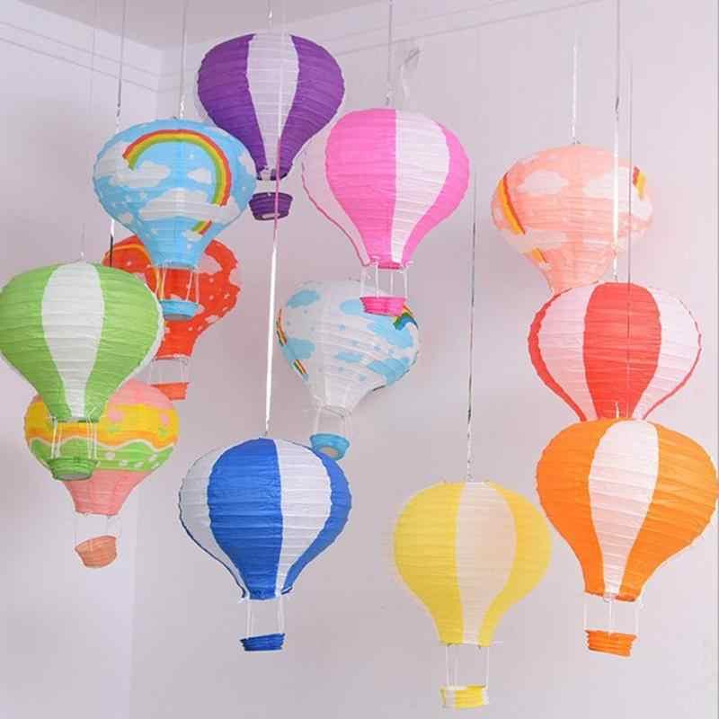 Lanterne de Festival de noël de 12 pouces suspendus lanternes de papier ballon à Air chaud lanterne de papier artisanat lanternes décor de fête d'anniversaire