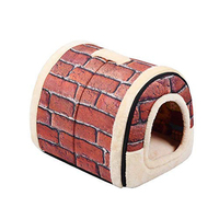 Practical Boutique Pet Dog House Nest With Mat Foldable Pet Dog Bed Cat Bed House For Small Medium Dogs Travel Kennels For Cat
