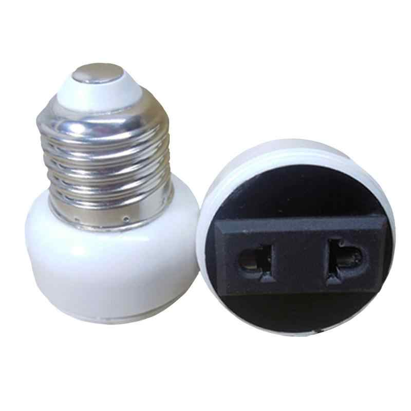 Practical E27 Bulb Holder Adapter Connector Accessories White ABS Lamp Socket convert E27 base to power socket 2-pin US/EU Plug