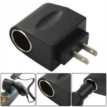 цена на US Plug Car Cigarette Lighter Adapter Converter Wall 110V~220V AC Power to 12V DC Hot