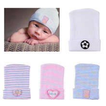 New Cute Newborn Baby Infant Girl Toddler Comfy Bowknot Hospital Cap Beanie Hat Bear Fitted Knitting Soft Cotton Lovely Hats(China)