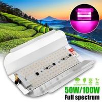 50 Вт 100 Вт светодиодный Фито потолочные светильники 5730smd 60lm/Вт высокой мощности Мощность полный спектр светодиодный свет для выращивания ги...