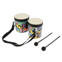Tooyful Children Percussion Toy Wooden Hand Bongo Drum Orff Musical Instruments