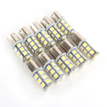 10 pcs 18 12 v 1156 BA15S 5050 7503 1141 SMD LED RV Reboque Do Carro Lâmpada 6000 k