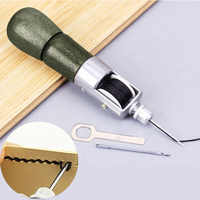 Leather Craft Tool Super Carving Wax Line Hand Made Leather Tools Art Needle Sewing Machine 133mm Hogard