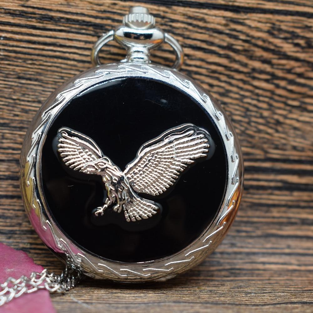 Pocket & Fob Watches  Silver Eagle Animal Quartz Pocket Watches Vintage Fob Watches  Gift For Men/Women
